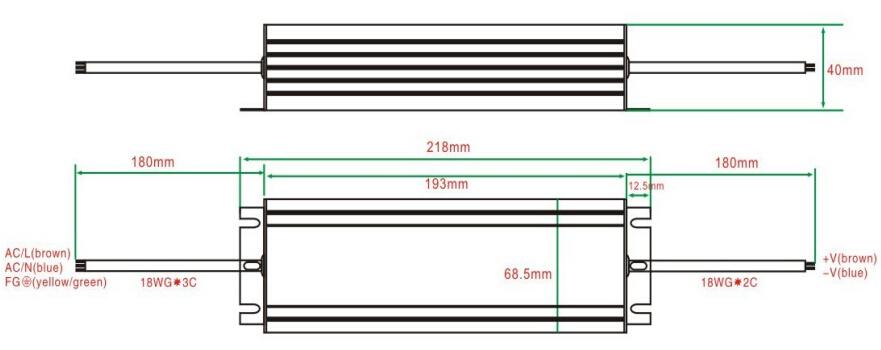 TUV EMC waterproof 100w led driver 700mA/1400mA/2100mA high efficiency 93%